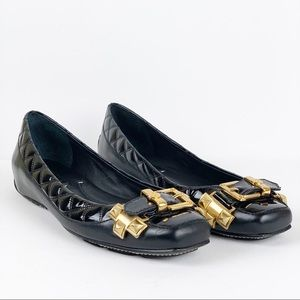BCBGMAXARIA Embellished/Quilted Ballet Flats Sz 9B